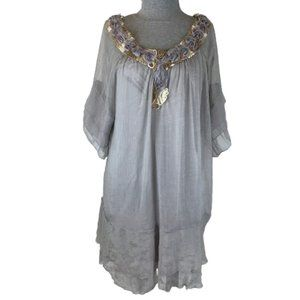 Pretty Angel Boho Gypsy Magnolia Tunic Mini Dress